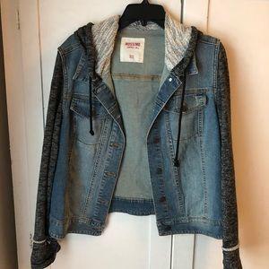 Jackets & Blazers - Perfect Denim and Hoodie Combo Jacket